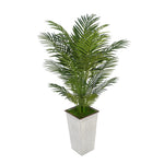 4-1/2 foot Areca Palm in Designer Metal House of Silk Flowers®