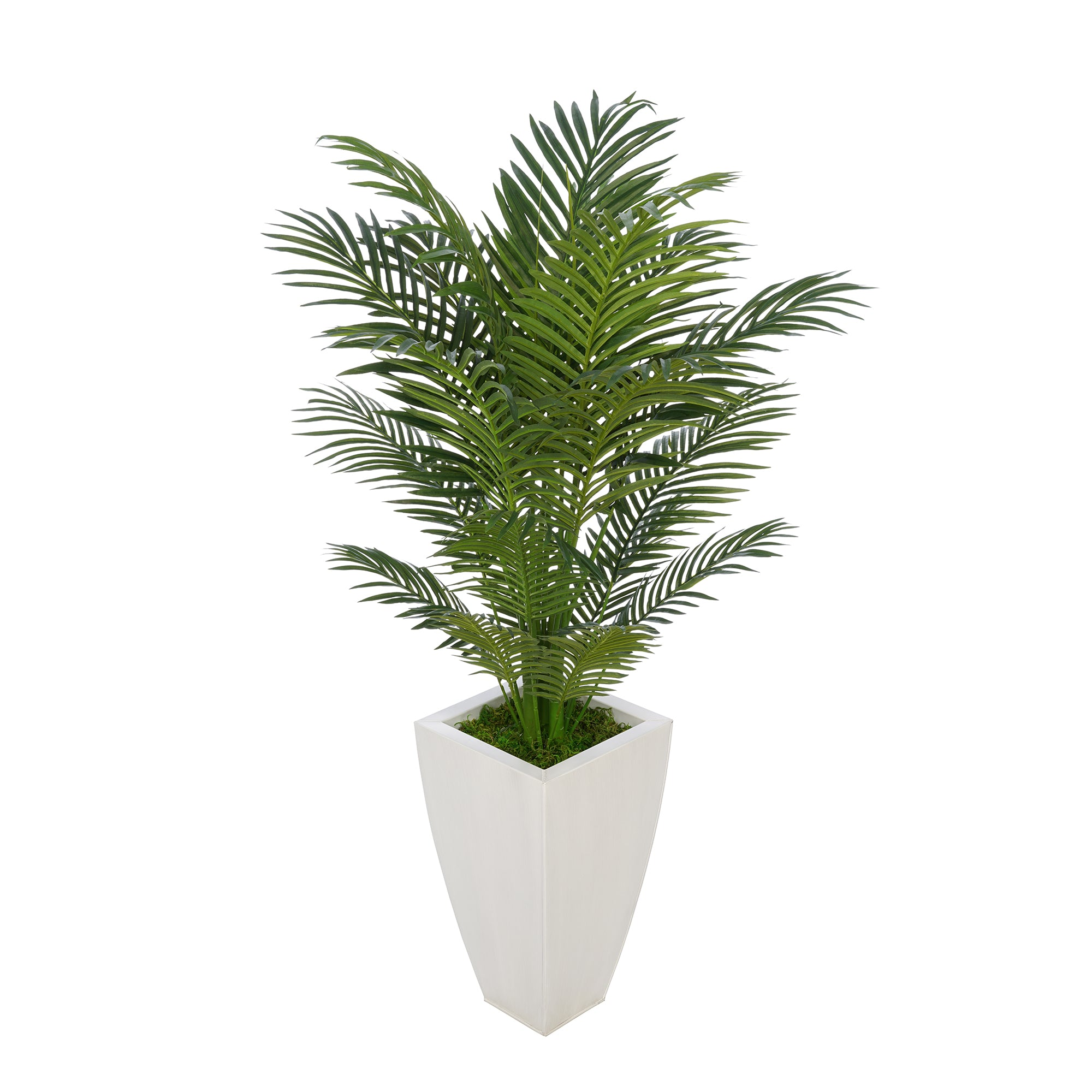 4-1/2 foot Areca Palm in Tapered Square Zinc House of Silk Flowers®
