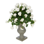 Faux Geranium in Grey Roman Urn Planter House of Silk Flowers®