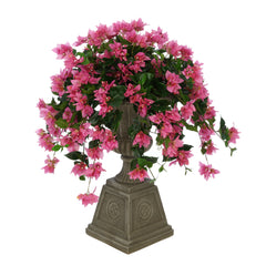 Faux Bougainvillea in Grey Footed Tuscan Urn Planter House of Silk Flowers®