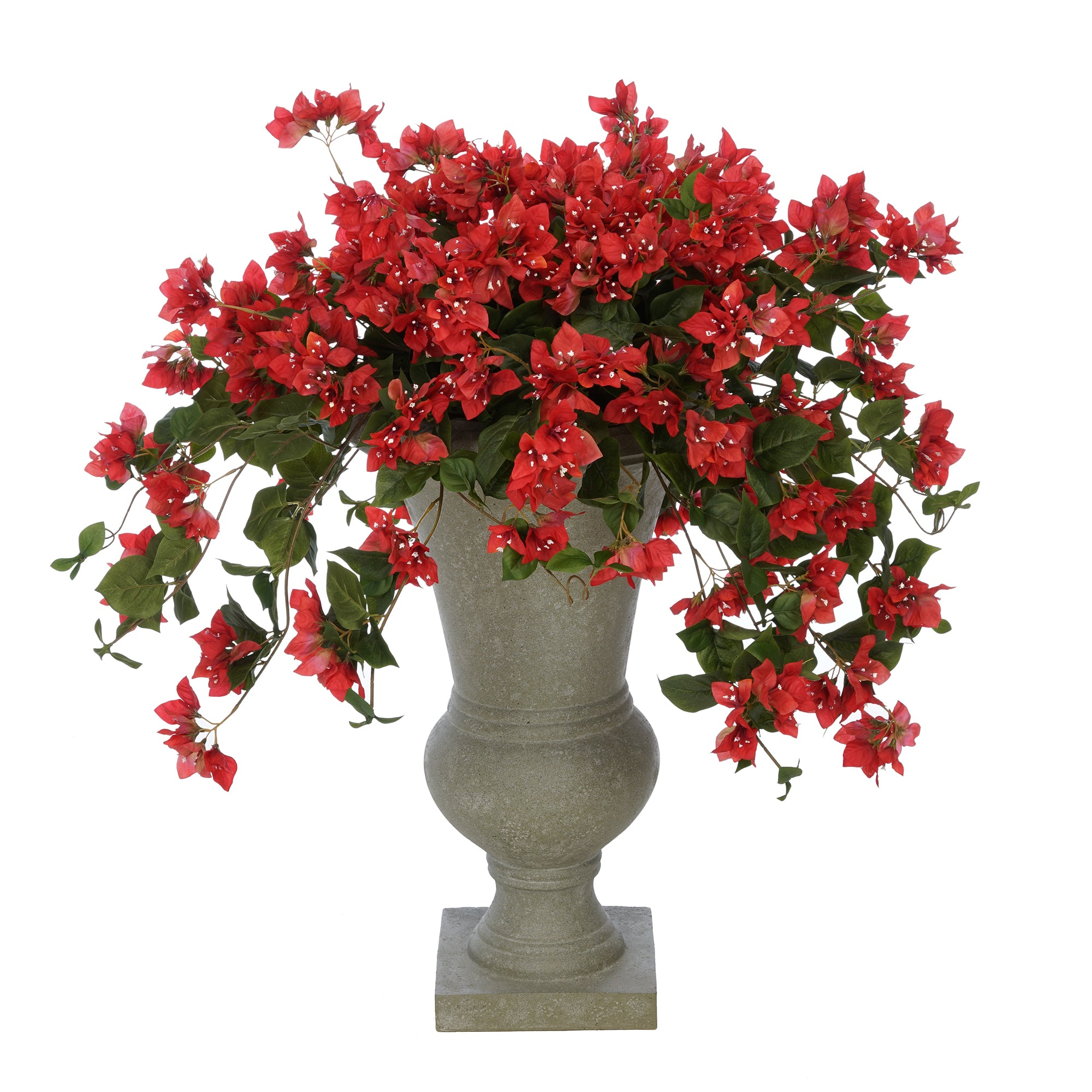Faux Bougainvillea in Grey-Washed Roman Urn Planter House of Silk Flowers®