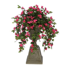 Faux Pink Mini Bougainvillea in Urn Planter House of Silk Flowers®