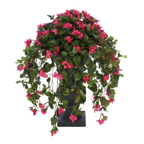Faux Pink Bougainvillea in Urn Planter