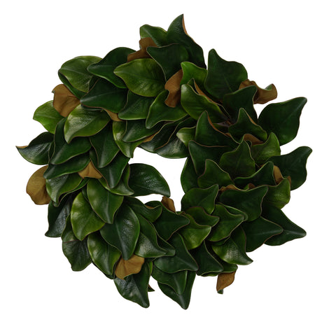 "24"" Real Touch Faux Magnolia Leaf Wreath (90 leaves)"