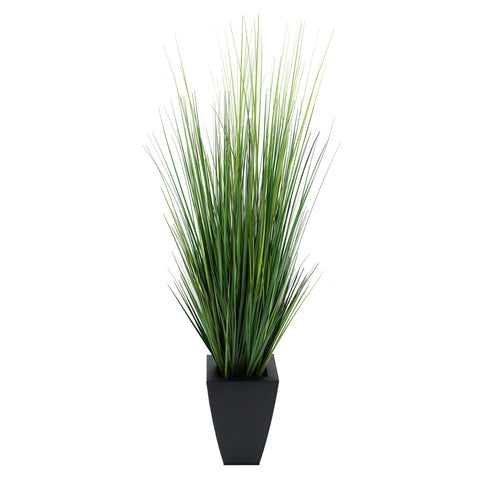 Artificial 45-inch Grass in Tapered Square Zinc