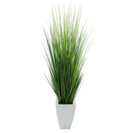 "45"" Grass in Cream Tapered Square Zinc"