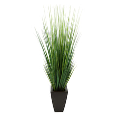 "45"" Grass in Matte Brown Tapered Square Zinc"