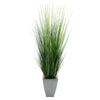 "45"" Grass in Silver Tapered Square Zinc"