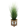 Artificial 46-inch Grass in Wood/Metal Planter Brown Diamond House of Silk Flowers®