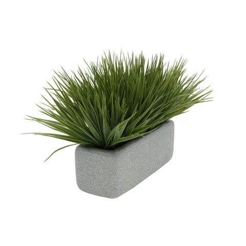 "Artificial Green Farm Grass in 11"" Sandy Texture Ceramic"