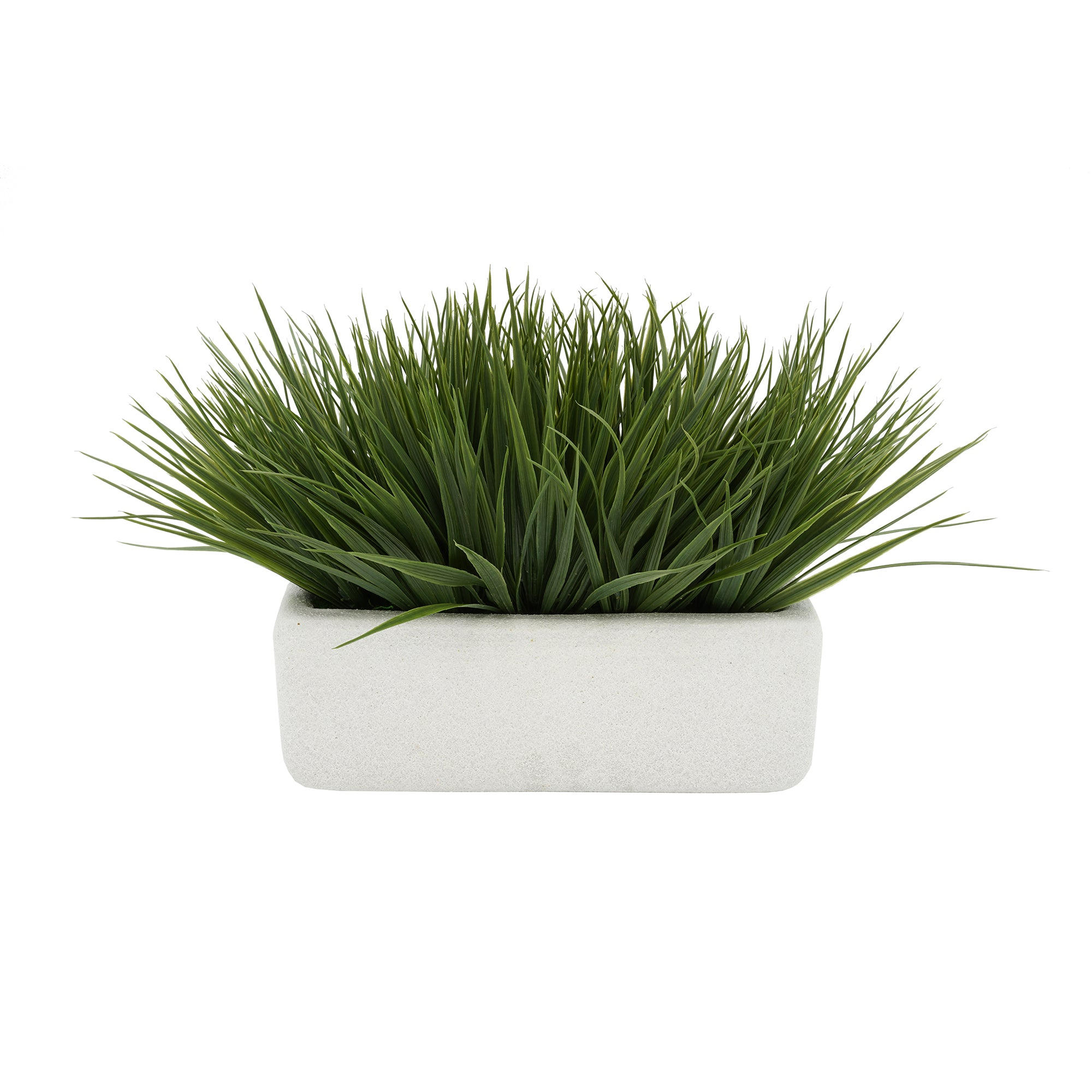 "Artificial Green Farm Grass in 11"" White Sandy Texture Ceramic"