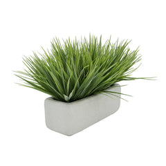 "Artificial Frosted Farm Grass in 11"" White Sandy Texture Ceramic"