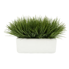"Artificial Green Farm Grass in 14"" Ceramic"
