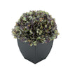 Artificial Antique Purple Hydrangea in Black Tapered Zinc Cube House of Silk Flowers®