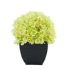 Artificial Green Hydrangea in Black Tapered Zinc Cube House of Silk Flowers®