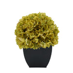 Artificial Sage Hydrangea in Black Tapered Zinc Cube House of Silk Flowers®