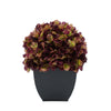 Artificial Plum Hydrangea in Black Tapered Zinc Cube House of Silk Flowers®