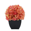 Artificial Coral Hydrangea in Black Tapered Zinc Cube House of Silk Flowers®