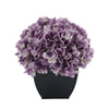 Artificial Lavender Hydrangea in Black Tapered Zinc Cube House of Silk Flowers®