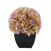 Artificial Lilac Hydrangea in Black Tapered Zinc Cube House of Silk Flowers®