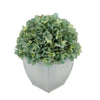 Artificial Teal Hydrangea in Cream Tapered Zinc Cube