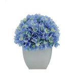 Artificial Blue Hydrangea in Cream Tapered Zinc Cube