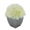 Artificial Hydrangea in Silver Tapered Zinc Cube white