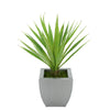 Faux Baby Yucca in Silver Tapered Zinc Pot