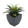 Faux Star Succulent in black Tapered Zinc Pot