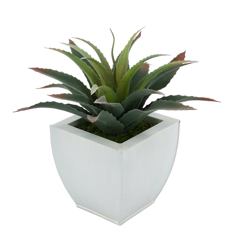 Faux Star Succulent in Tapered Zinc Pot