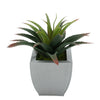 Faux Star Succulent in silver Tapered Zinc Pot
