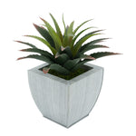Faux Star Succulent in farmhouse Tapered Zinc Pot
