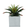 Faux Star Succulent in farmhouse Square Zinc Pot