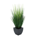 Faux Grass in Black Tapered Zinc Cube