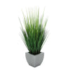 Faux Grass in Silver Tapered Zinc Cube