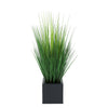 Faux Grass in Black Square Zinc Cube