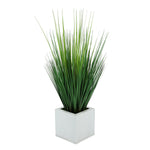 Faux Grass in Cream Square Zinc Cube
