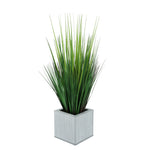 Faux Grass in Farmhouse Square Zinc Cube