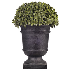 "Artificial 13"" Half Ball Topiary in Stone-Look Urn - House of Silk Flowers®  - 2"
