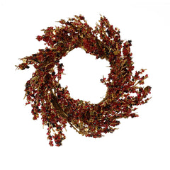 Burgundy/Gold Iced Small Wreath