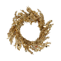 Gold Iced Small Wreath