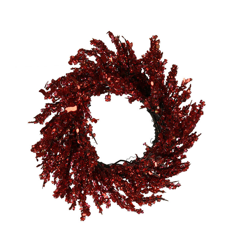 Red Iced Small Wreath