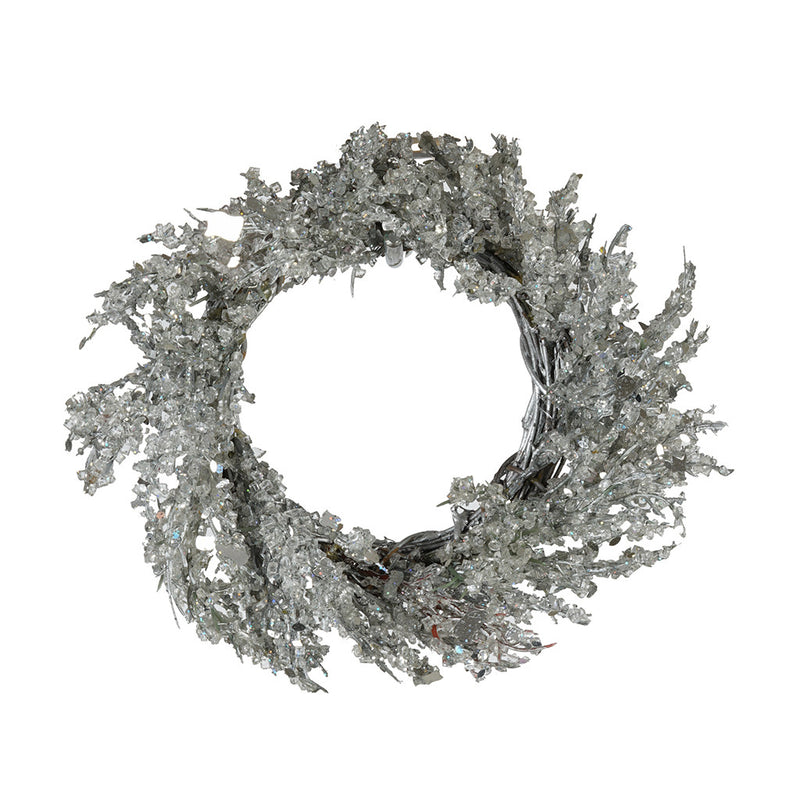 Silver Iced Small Wreath