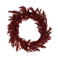 Red Iced Medium Wreath