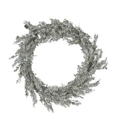 Silver Iced Medium Wreath
