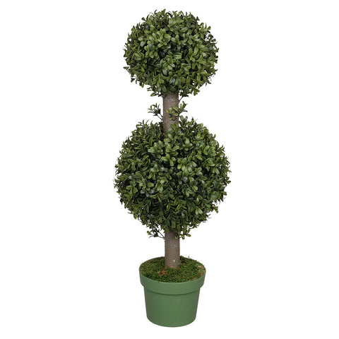 Artificial 2-foot Boxwood Double Ball Topiary