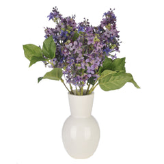 Artificial Purple Lilac in White Ceramic Vase - House of Silk Flowers®