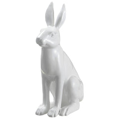 "White 12"" Polyresin Bunny Statuette - House of Silk Flowers®"