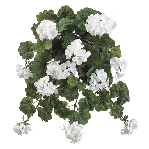 Artificial 22-inch Geranium Trailing Bush (Set of 6)