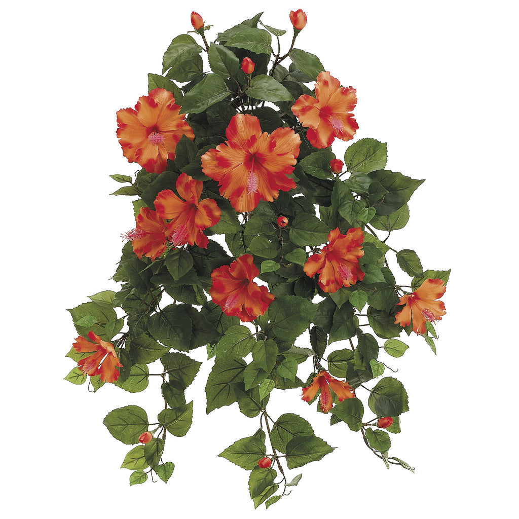 "Artificial 22"" Hibiscus Trailing Bush - House of Silk Flowers®  - 1"